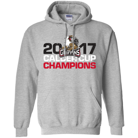 Grand Rapids Griffins 2017 Calder Cup Champions Distressed Adult Pullover Hoodie