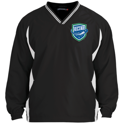 Utica Comets Adult Tipped VNeck Wind Shirt