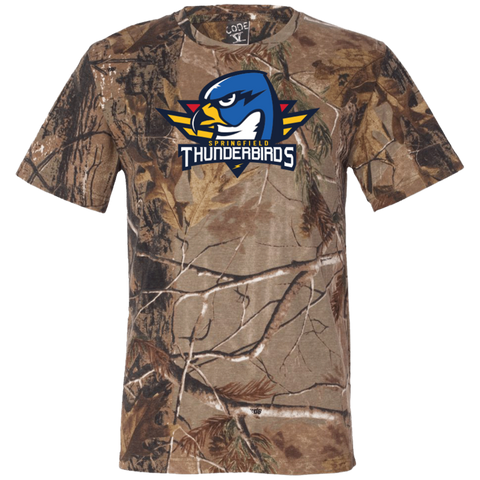 Springfield Thunderbirds Primary Logo Short Sleeve Camouflage T-Shirt