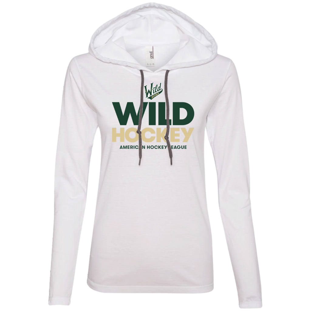 Iowa Wild Hockey Ladies' Long Sleeve T-Shirt Hoodie