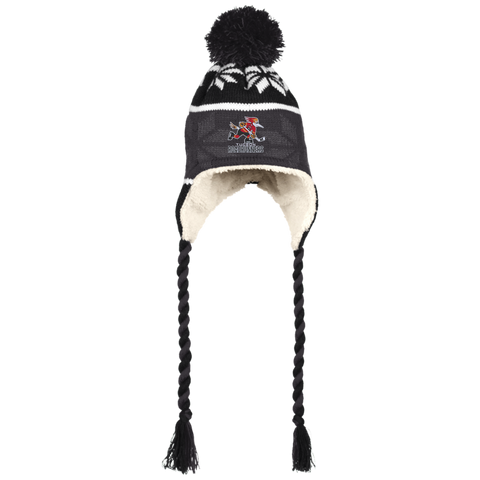 Tucson Roadrunners Winter Hat with Ear Flaps and Braids