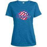 Rochester Americans Primary Logo Ladies Heather Dri-Fit Moisture-Wicking Tee