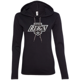 Ontario Reign Primary Logo Ladies Long Sleeve T-Shirt Hoodie