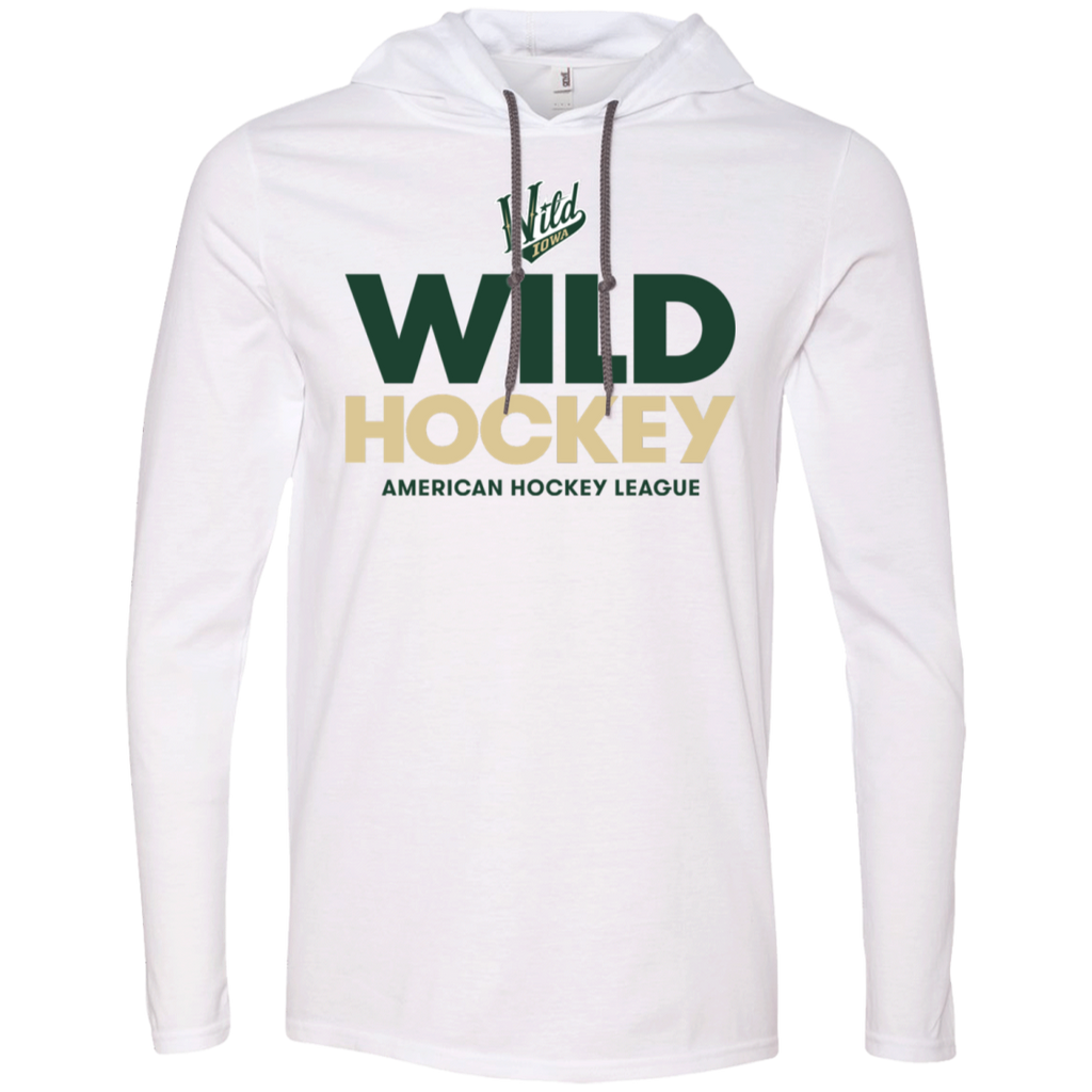 Iowa Wild Hockey Adult Long Sleeve T-Shirt Hoodie