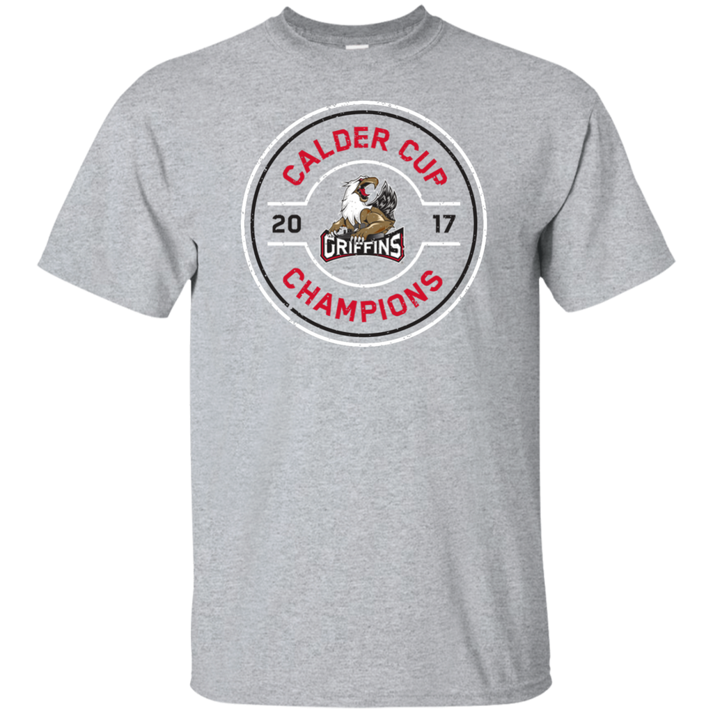 Grand Rapids Griffins 2017 Calder Cup Champions Faceoff Youth T-Shirt