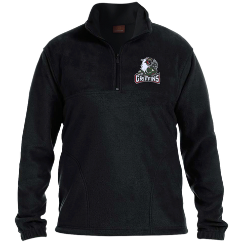 Grand Rapids Griffins Adult Embroidered 1/4 Zip Fleece Pullover