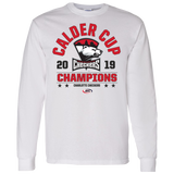 Charlotte Checkers 2019 Calder Cup Champions Adult Arch Long Sleeve T-Shirt