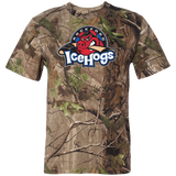 Rockford IceHogs Primary Logo Short Sleeve Camouflage T-Shirt
