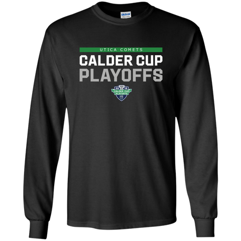 Utica Comets Adult 2018 Postseason Long Sleeve Cotton T-Shirt