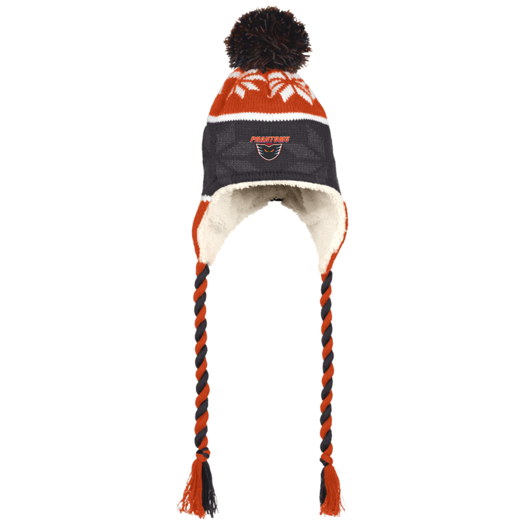 Lehigh Valley Phantoms Winter Hat with Ear Flaps and Braids
