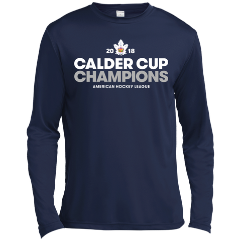 Toronto Marlies 2018 Calder Cup Champions Adult Crown Long Sleeve Moisture Absorbing T-Shirt