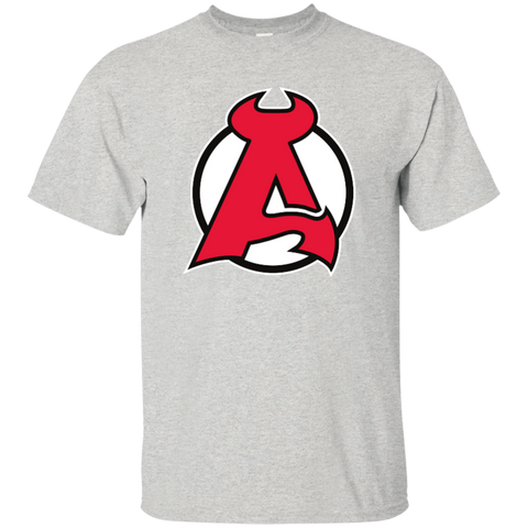 Albany Devils Primary Logo Adult Short Sleeve T-Shirt