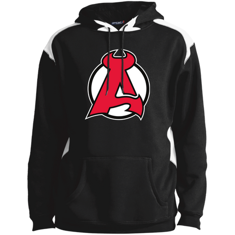Albany Devils Adult Shoulder Colorblock Pullover Hoodie