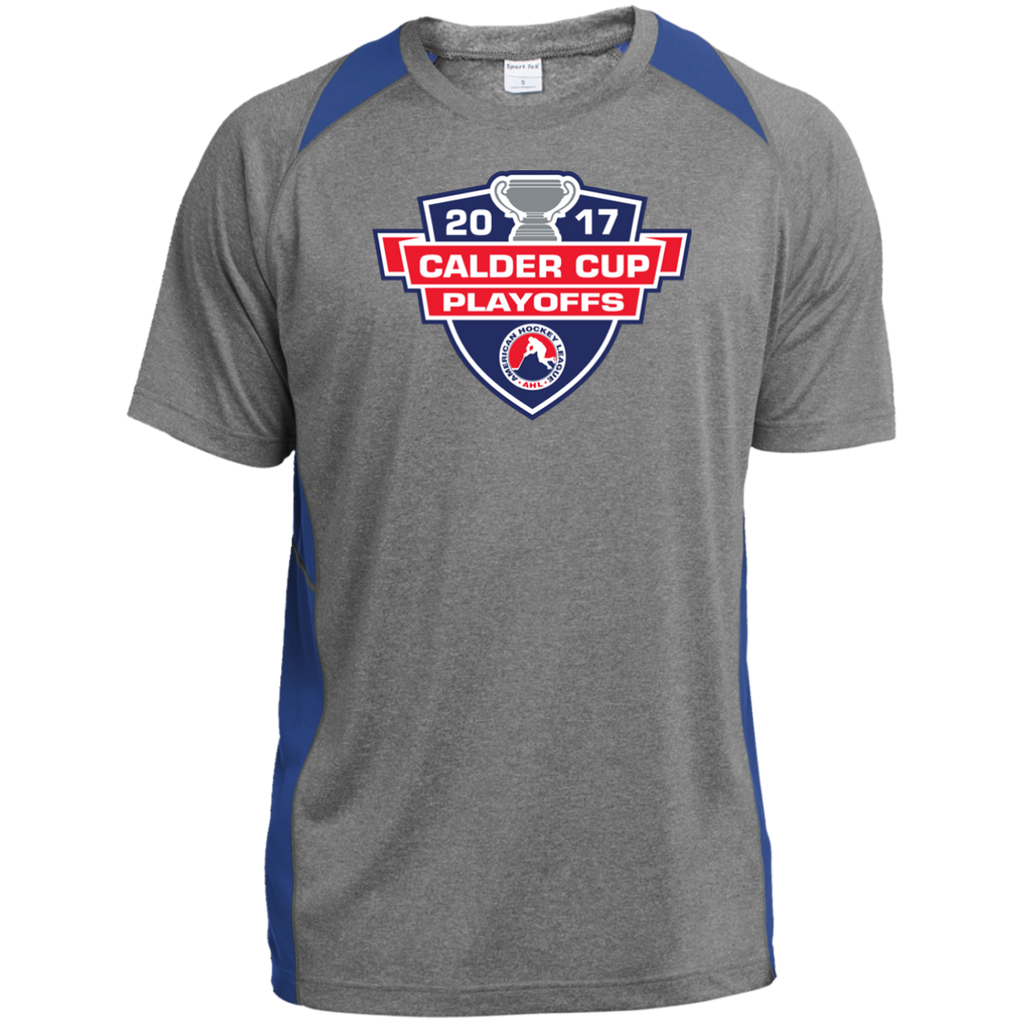 2017 Calder Cup Playoffs Adult Heather Colorblock Poly T-Shirt