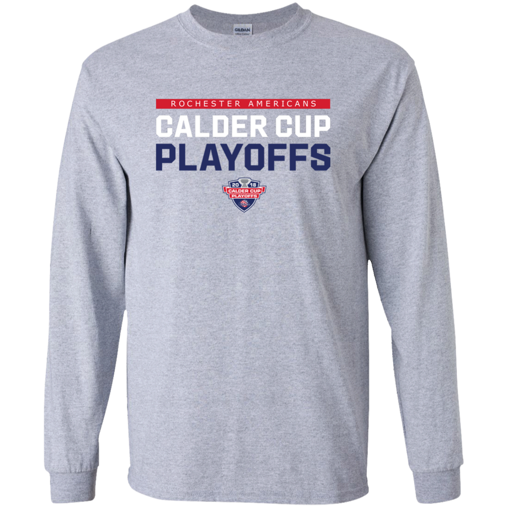 Rochester Americans Adult 2018 Postseaon Long Sleeve Cotton T-Shirt