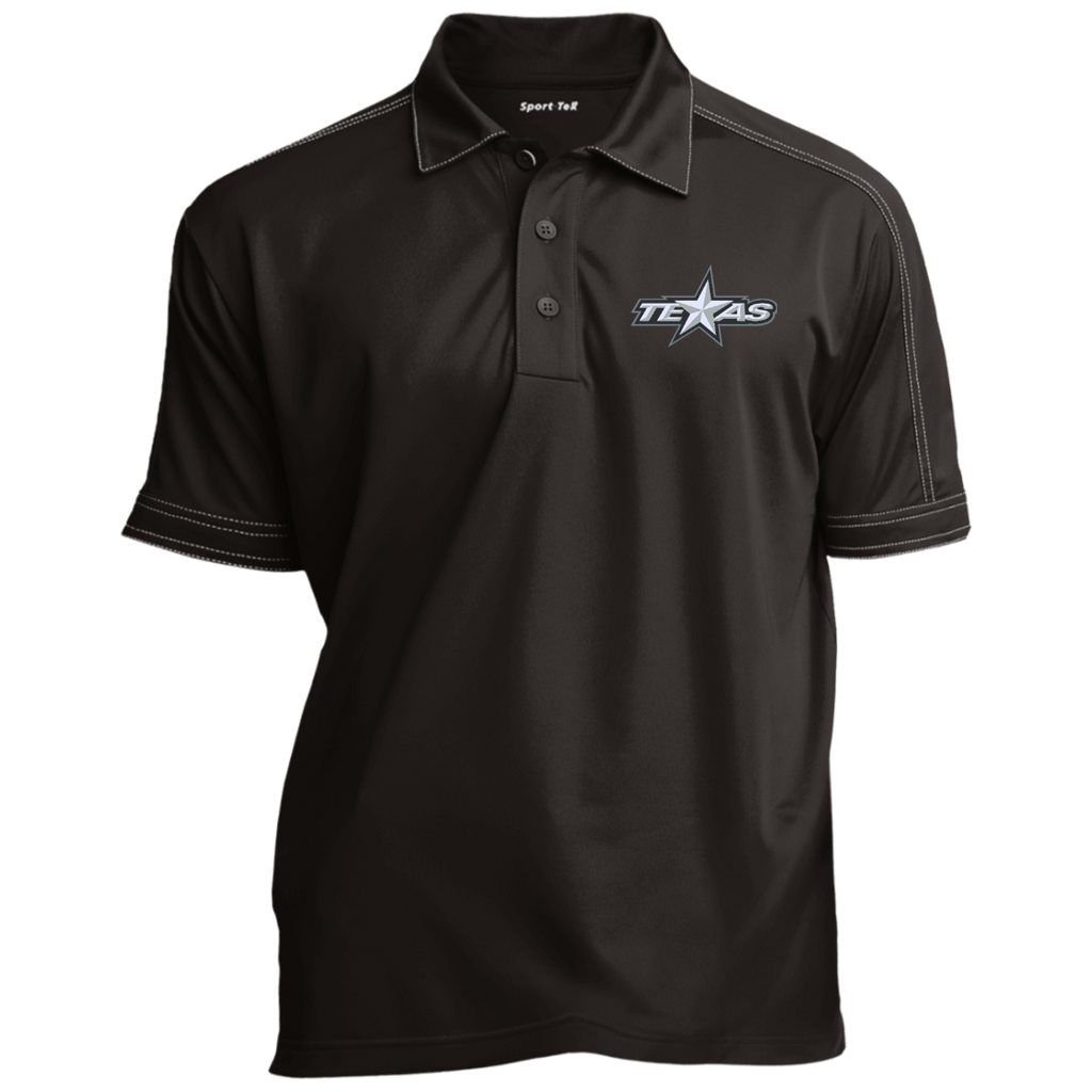 Texas Stars Contrast Stitch Performance Polo