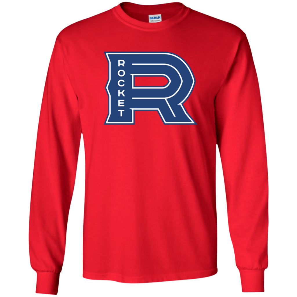 Laval Rocket Primary Logo Adult Long Sleeve T-Shirt
