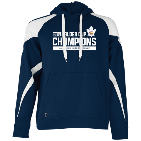 Toronto Marlies 2018 Calder Cup Champions Adult Raise the Bar Colorblock Hoodie (Sidewalk Sale)