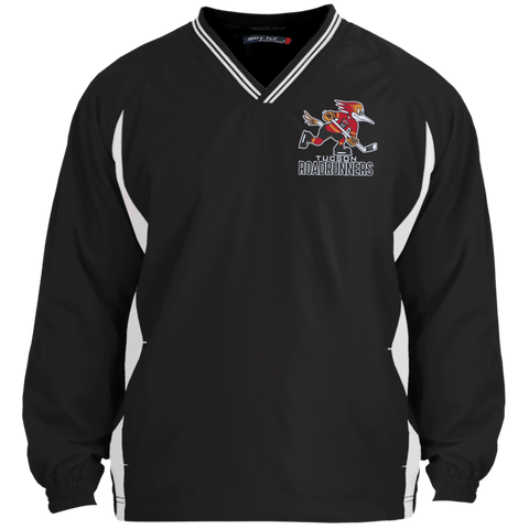 Tucson Roadrunners Adult Tipped VNeck Wind Shirt