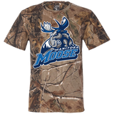Manitoba Moose Primary Logo Short Sleeve Camouflage T-Shirt