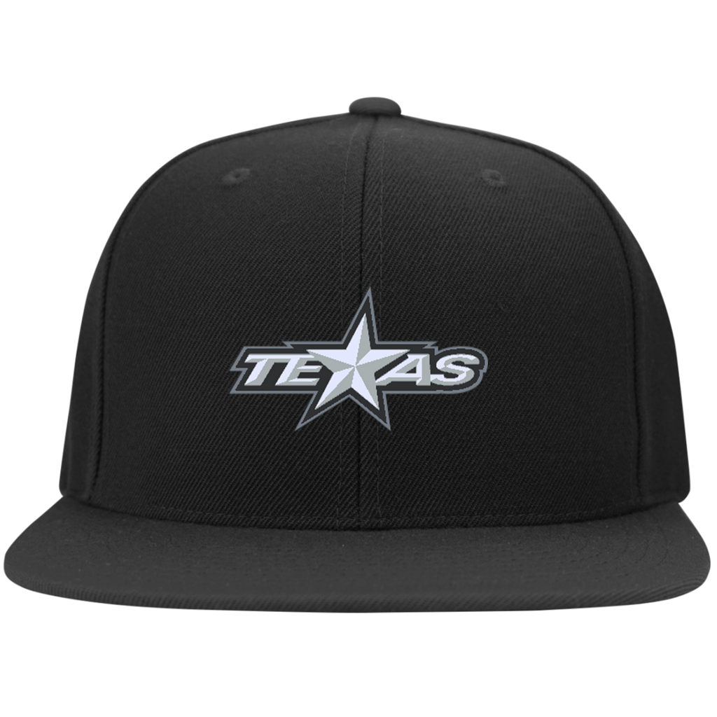Texas Stars Flat Bill High-Profile Snapback Hat