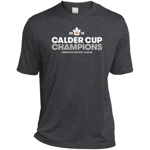 Toronto Marlies 2018 Calder Cup Champions Adult Crown Heather Dri-Fit Moisture-Wicking T-Shirt