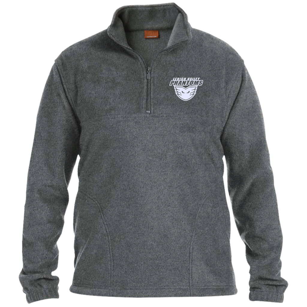 Lehigh Valley Phantoms Embroidered 1/4 Zip Fleece Pullover (White Logo)