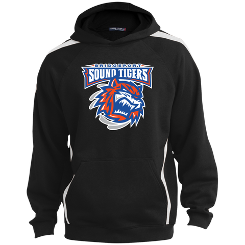 Bridgeport Sound Tigers Youth Sleeve Stripe Hooded Pullover