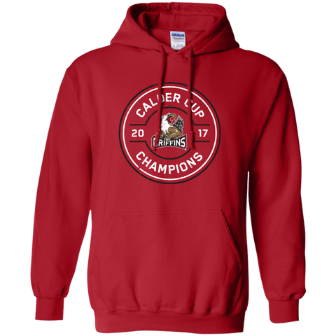 Grand Rapids Griffins 2017 Calder Cup Champions Adult Faceoff Pullover Hoodie (red)