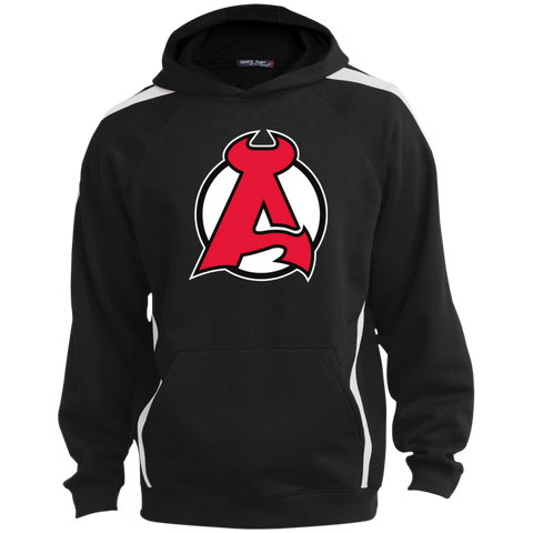 Albany Devils Sleeve Stripe Sweatshirt with Jersey Lined Hood
