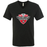 Charlotte Checkers 2017 Calder Cup Playoffs Men's Next Level Triblend V-Neck Tee
