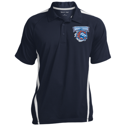 Bridgeport Sound Tigers Mens Colorblock 3-Button Polo