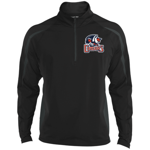 Bakersfield Condors Men's Sport Wicking Colorblock 1/2 Zip