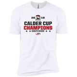 Charlotte Checkers 2019 Calder Cup Champions Next Level Stacked Premium Short Sleeve T-Shirt