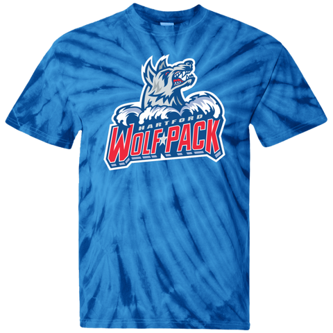 Hartford Wolf Pack Primary Logo Youth Tie Dye T-Shirt (Sidewalk Sale)