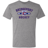 Bridgeport Sound Tigers Adult Established Next Level Men's Triblend T-Shirt