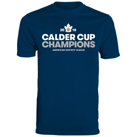 Toronto Marlies 2018 Calder Cup Champions Adult Crown Short Sleeve Moisture Wicking T-Shirt