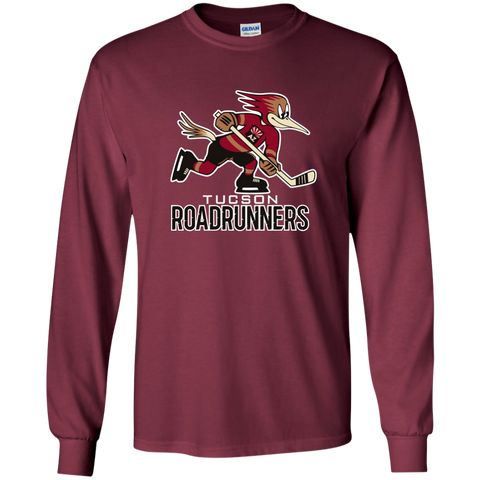 Tucson Roadrunners Primary Logo Youth Long Sleeve T-Shirt (Maroon)