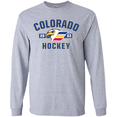 Colorado Eagles Established Youth Long Sleeve T-Shirt