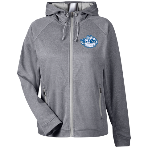 Syracuse Crunch Team 365 Ladies Heather Performance Hooded Jacket
