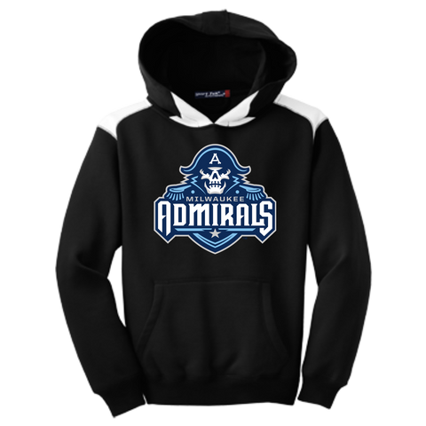 Milwaukee Admirals Youth Colorblock Hooded Pullover