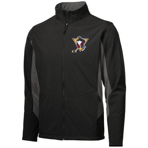 Wilkes-Barre/Scranton Penguins Adult Colorblock Soft Shell Jacket