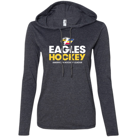 Colorado Eagles Hockey Primary Logo Ladies' Long Sleeve T-Shirt Hoodie