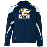 Colorado Eagles Primary Logo Youth Colorblock Hoodie