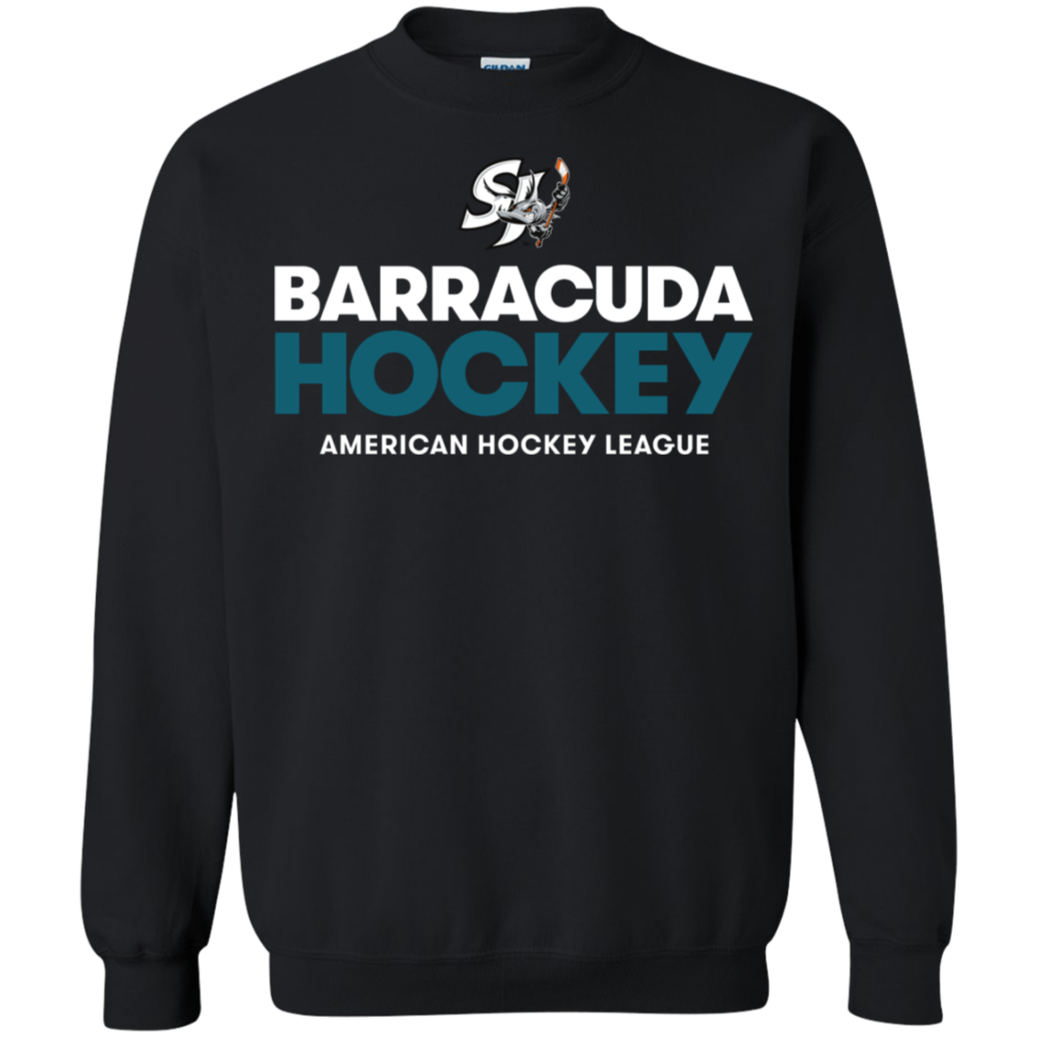 San Jose Barracuda Hockey Primary Logo Adult Crewneck Pullover