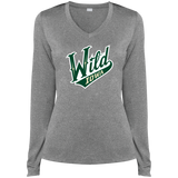 Iowa Wild Ladies Long Sleeve Heather Dri-Fit V-Neck T-Shirt