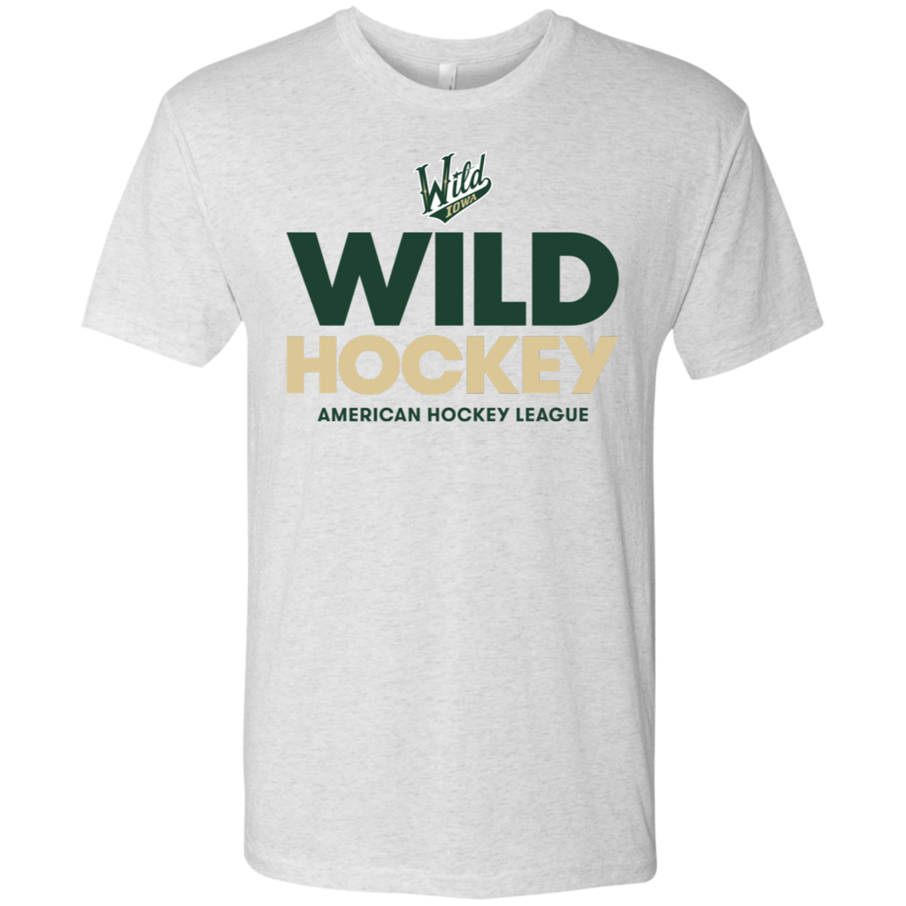 Iowa Wild Hockey Next Level Men's Triblend T-Shirt