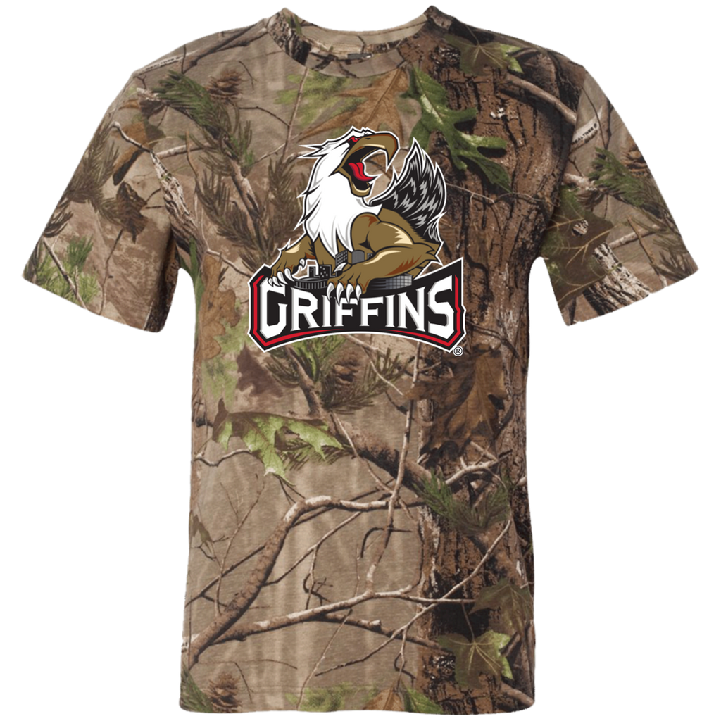 Grand Rapids Griffins Adult Short Sleeve Camouflage T-Shirt