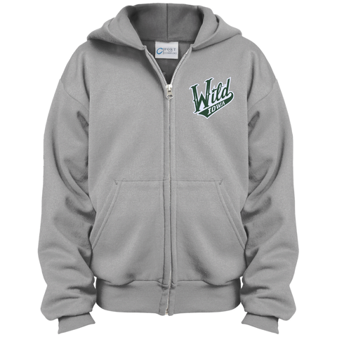 Iowa Wild Youth Embroidered Full Zip Hoodie (Sidewalk Sale)