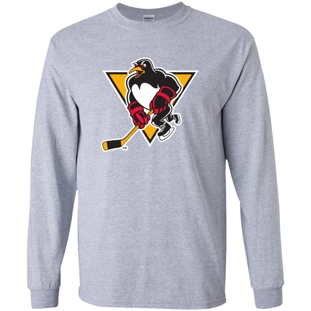 Wilkes-Barre/Scranton Penguins Primary Logo Adult Long Sleeve T-Shirt